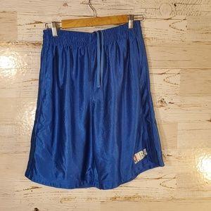 NBA blue athletic shorts